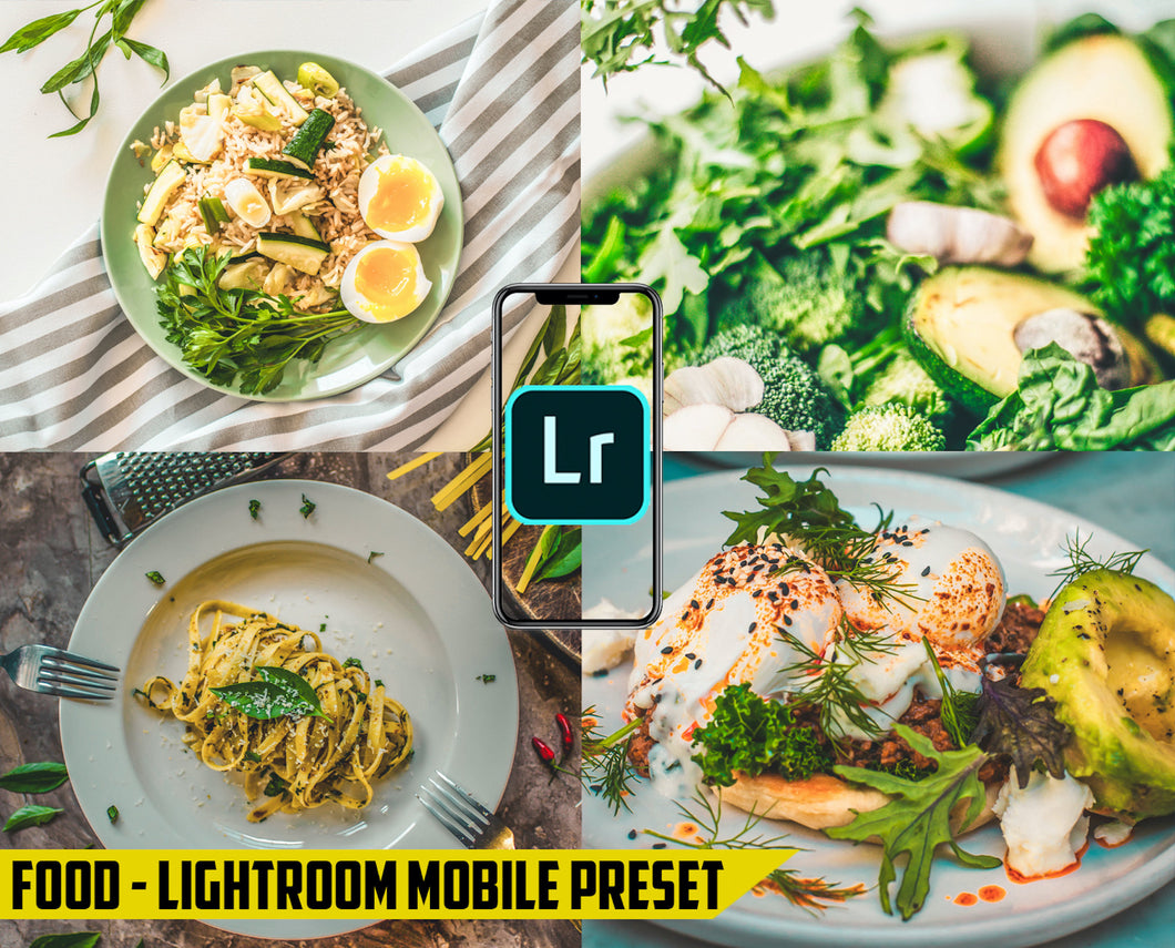 Food Preset - Lightroom Mobile Preset - Dollar Presets - Lightroom Mobile Presets
