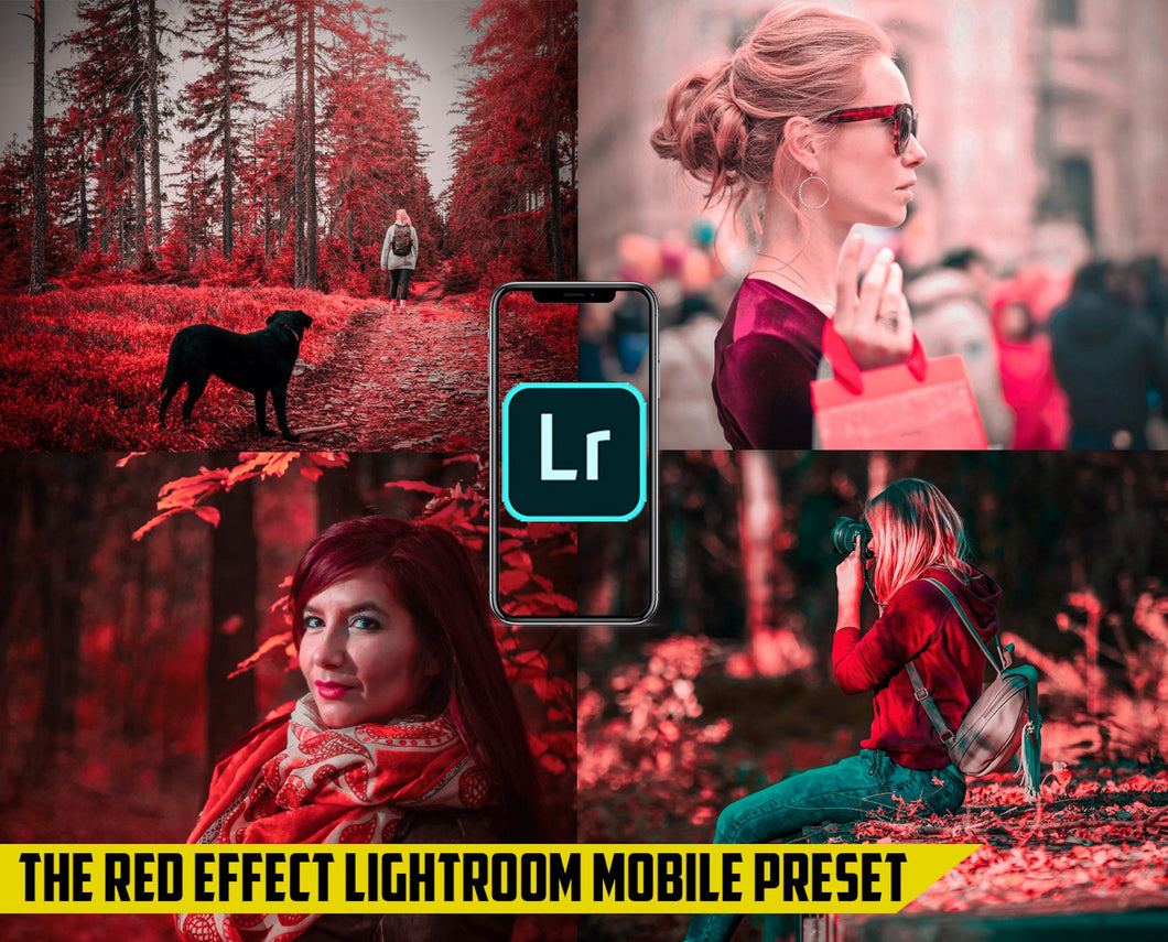 The Red Effect - Lightroom Mobile Preset - Dollar Presets - Lightroom Mobile Presets