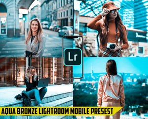 Aqua Bronze Effect - Lightroom Mobile Preset - Dollar Presets - Lightroom Mobile Presets