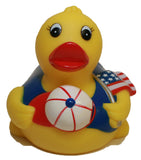 Rubber Duck All American Pledge of Allegiance, Waddlers Brand Patriotic Rubber Ducks That Float Upright, All American Patriotic Themed Birthday Gift, All Depts. America Proud Gift