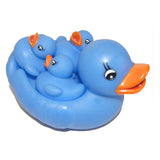 Rubber Ducks Bright Cornflower Blue Family of 4, Waddlers Brand Rubber Ducks Family That Squeaks, Toy Bathtub Rubber Ducks, Baby Shower Birthday Gift Set, All Depts. Mother's Day Favored Gift