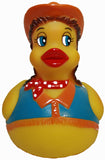 Rubber Ducks Family Cowgirl Rubber Duck, Waddlers Brand Bathtub Toy Rubber Du...