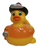 Rubber Duck Fireman, Waddlers Brand Career American Fireman Rubber Ducky That Floats Upright, All Depts. Gift Fireman Honored Birthday & Party Rubber Ducky Gift