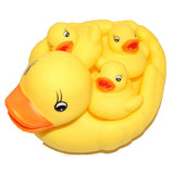 Rubber Ducks Bright Yellow Family Set of 4, Waddlers Brand Toy Bathtub Rubber Ducks Family That Squeak, Baby Shower Birthday Toy Gift, All Depts. Mother's Day & Family Favor Gift