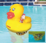 Swimming Pool Toy Rubber Duck Inflatable 24 Inches with Soft Drink Can Cooler...