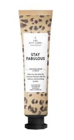 "The gift label - lipbalm ""stay fabulous"""