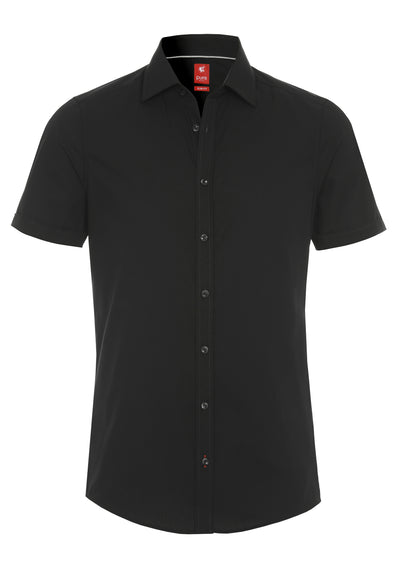3330-717 - Hemd City red - schwarz - pureshirt