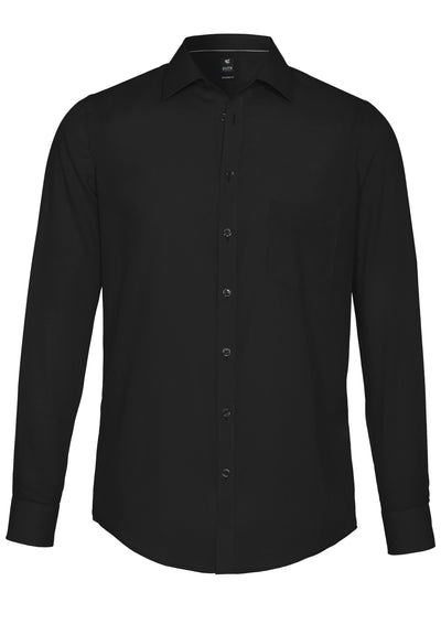 3379-420 - Hemd City Black - schwarz - pureshirt
