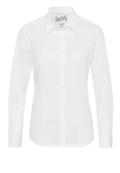 3385-91190 - Functional Damen Bluse slim fit - weiß - pureshirt