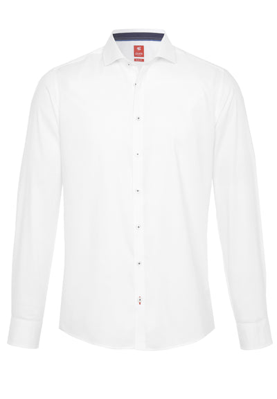 3388-732 - City Hemd Red - weiß - pureshirt