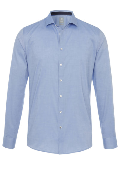 3388-788 - City Hemd Silver - blau - pureshirt