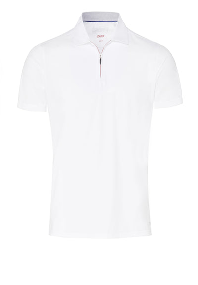 3392-92920 900 Pure Functional Polo Zip slim fit Halbarm - pureshirt