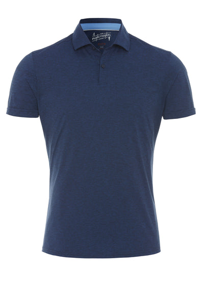3393-92930 - Functional Polo Knopf slim fit - blau - pureshirt