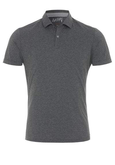 3393-92930 - Functional Polo Knopf slim fit - grau - pureshirt