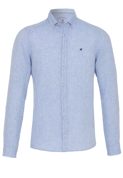 3801-550 - Casual Hemd Slim Fit - blau - pureshirt