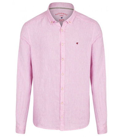 3801-550 PURE- Casual Hemd Slim Fit Langarm 340 uni rosa