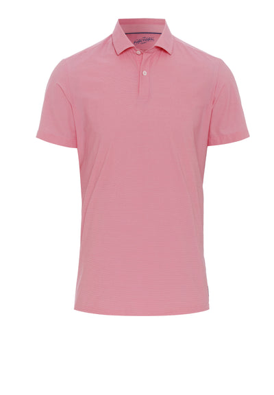 4035-92930 Pure Functional Polo Knopf slim fit Halbarm 340 uni rosa