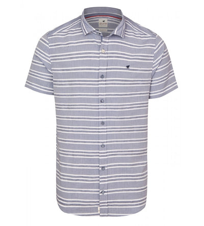 C71569-22116 163 PURE- Casual Hemd Slim Fit Halbarm - pureshirt