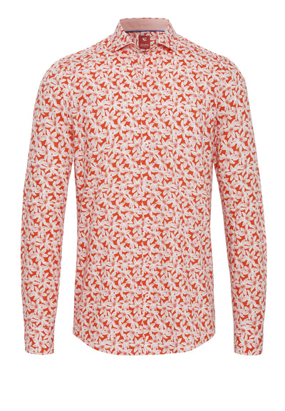 C91033-21714-676 PURE- City Hemd Red Langarm - pureshirt