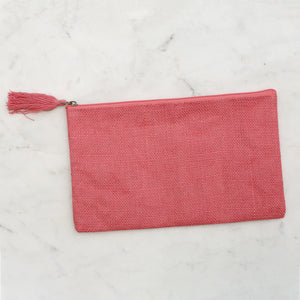 Load image into Gallery viewer, Jute Cosmetic Bag