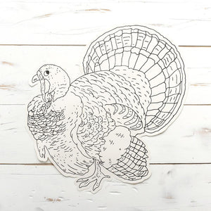Load image into Gallery viewer, Die-Cut Coloring Turkey Paper Placemat
