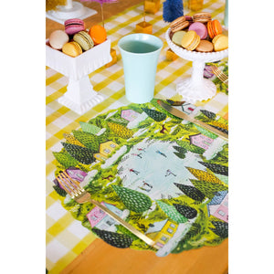 Die-Cut Winter Village Placemat