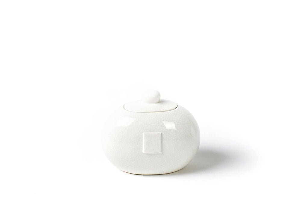 White Small Dot Mini Cookie Jar