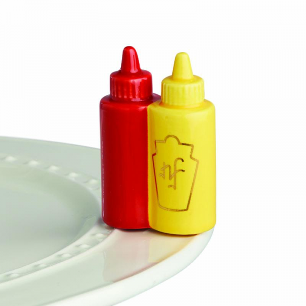 Nora Fleming Mini - Ketchup & Mustard