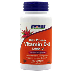 NOW® Vitamin D-3 1,000IU, 180s