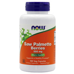 NOW® Saw Palmetto Berries 550mg, 100s