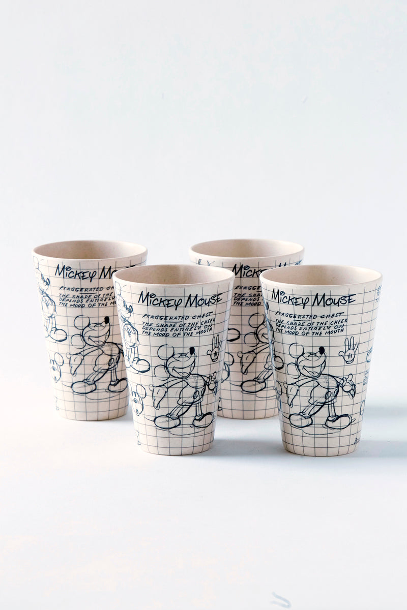 Disney Sketchbook Bamboo Mickey Tumblers S/4