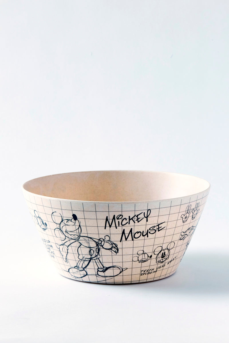 Disney Sketchbook Bamboo Mickey Serving Bowl