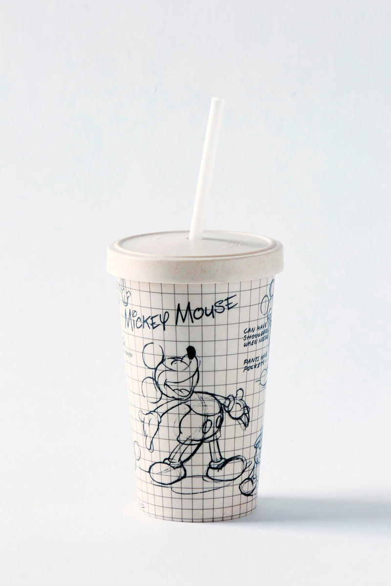 Disney Sketchbook Bamboo Tumbler W/ Straw