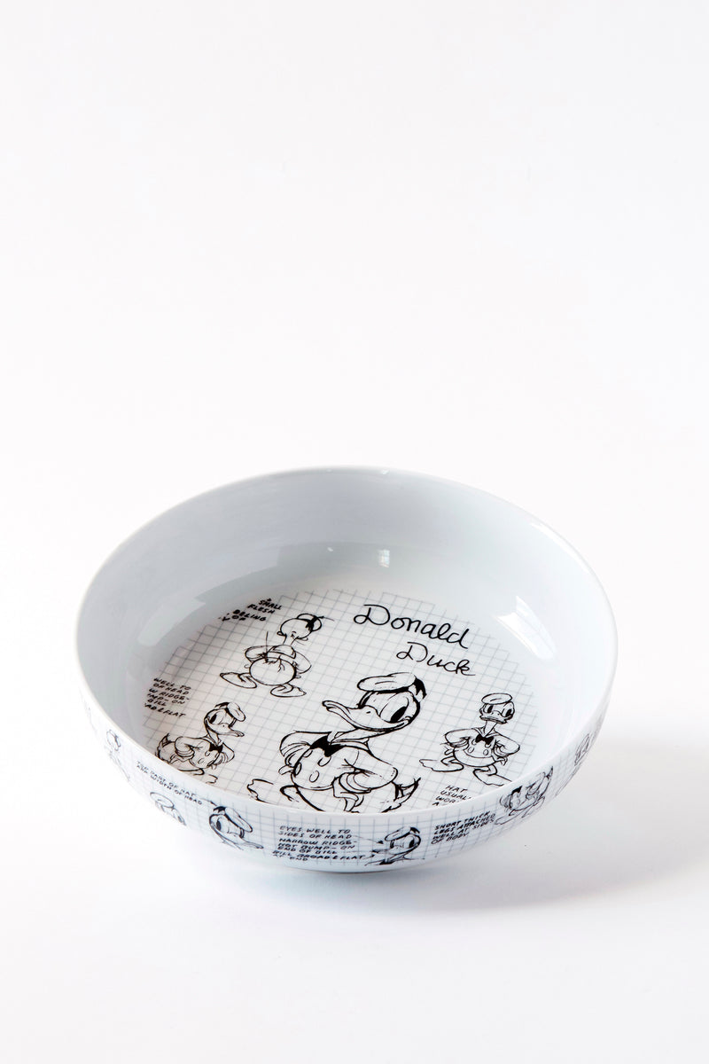 Donald Sketchbook Dinner Bowl, S/4