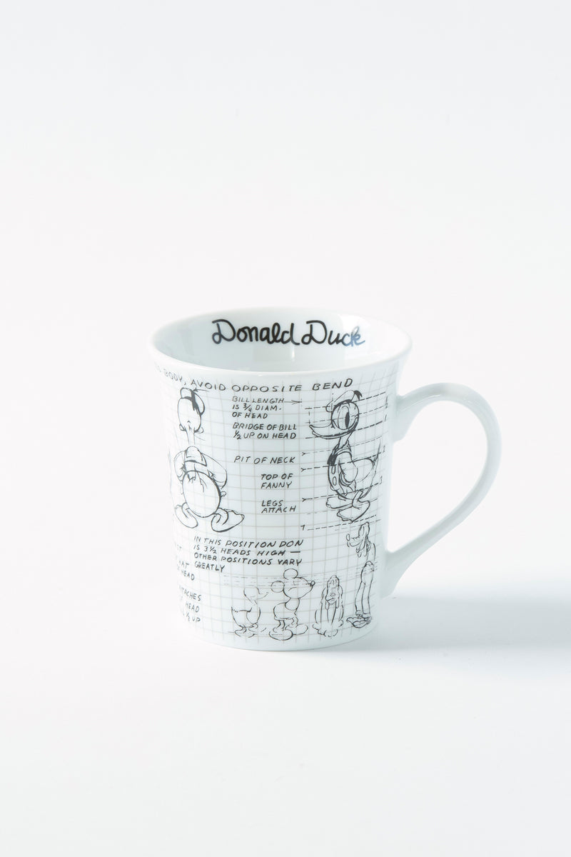 Donald Sketchbook Mug, S/4