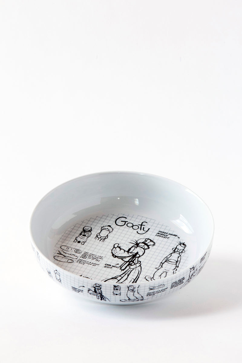 Goofy Sketchbook Dinner Bowl, S/4