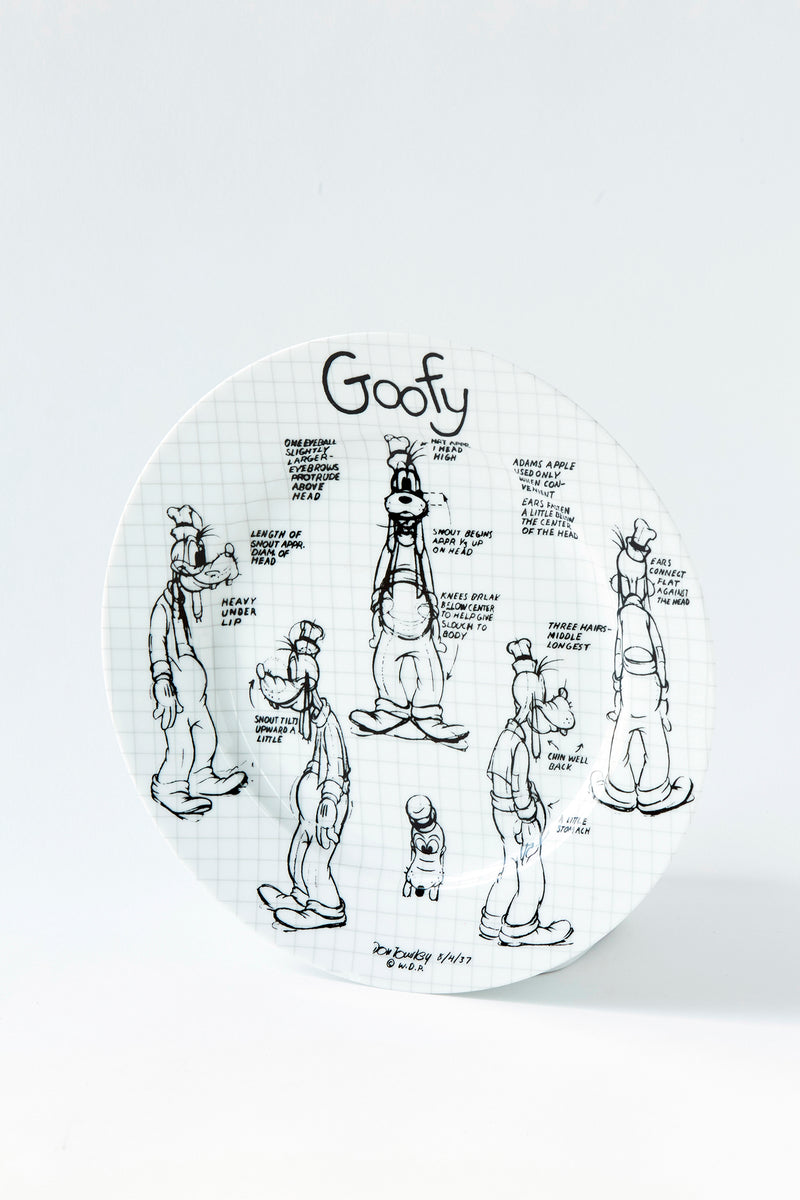 Goofy Sketchbook Dinner Plate, S/4