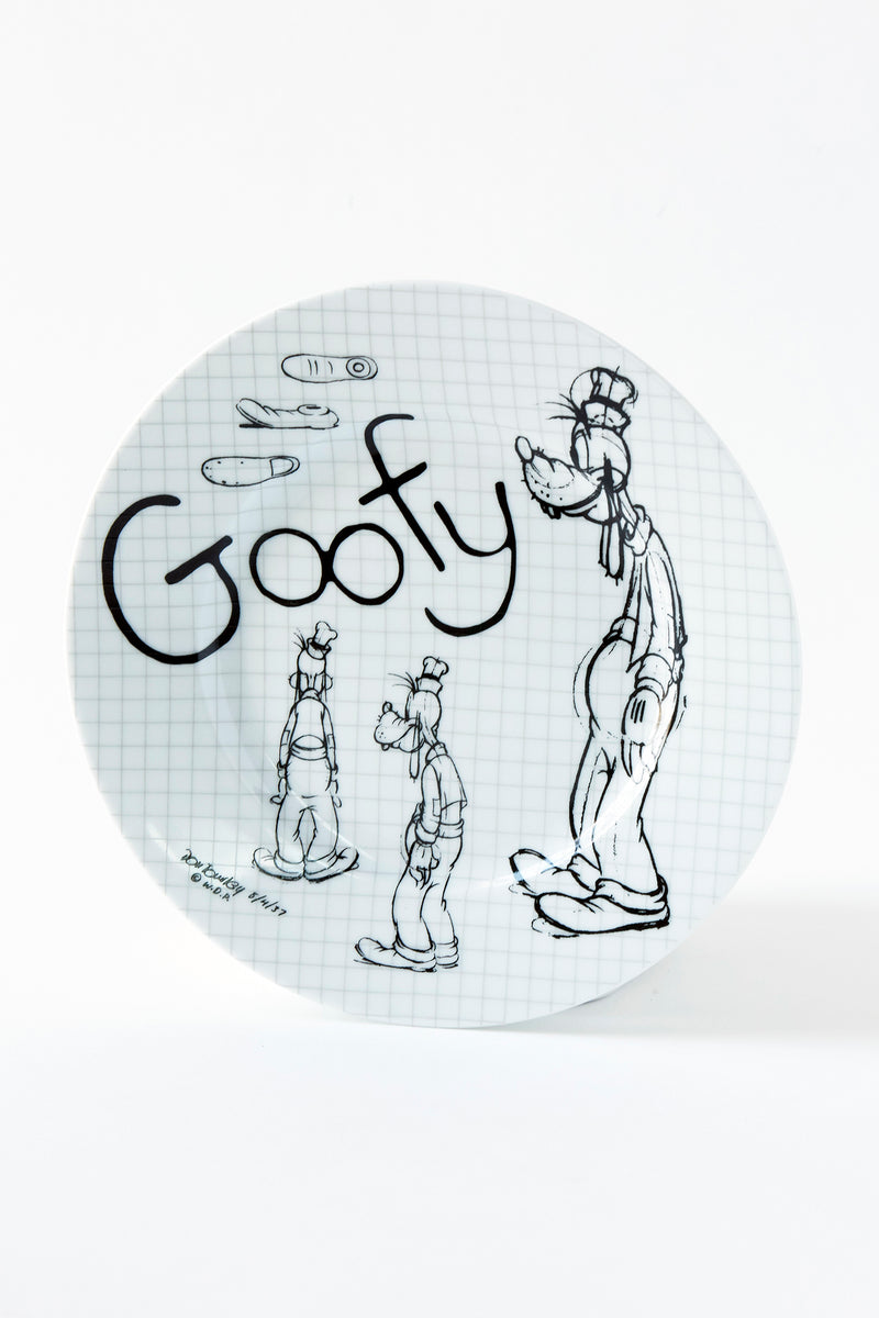 Goofy Sketchbook Salad Plate, S/4