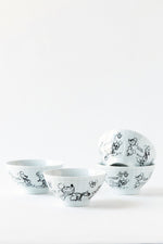 Mickey Sketchbook Cereal Bowl, S/4