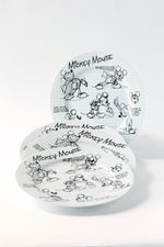 Mickey Sketchbook Dinner Plate, S/4