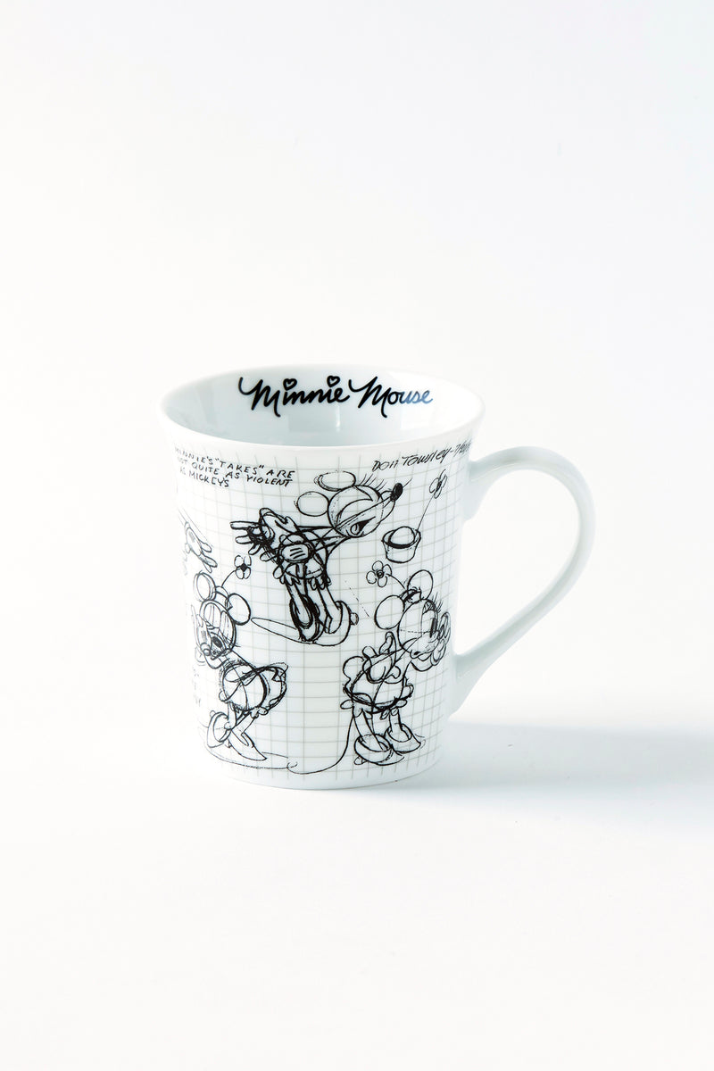 Minnie Sketchbook Mug, S/4