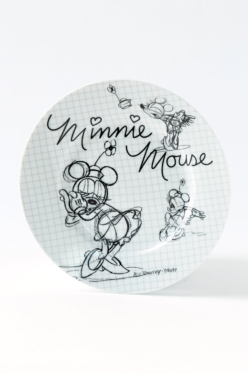 Minnie Sketchbook Salad Plate, S/4