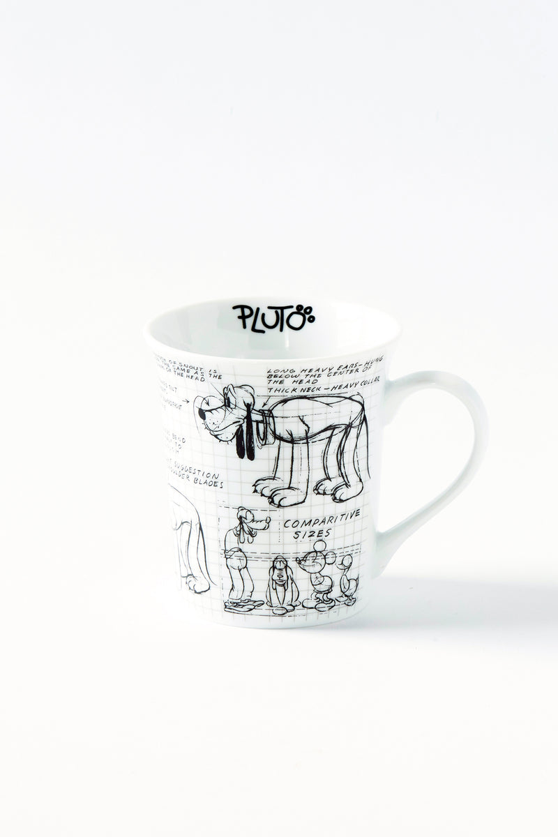 Pluto Sketchbook Mug, S/4