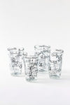 Sketchbook Glass Tumblers, S/4