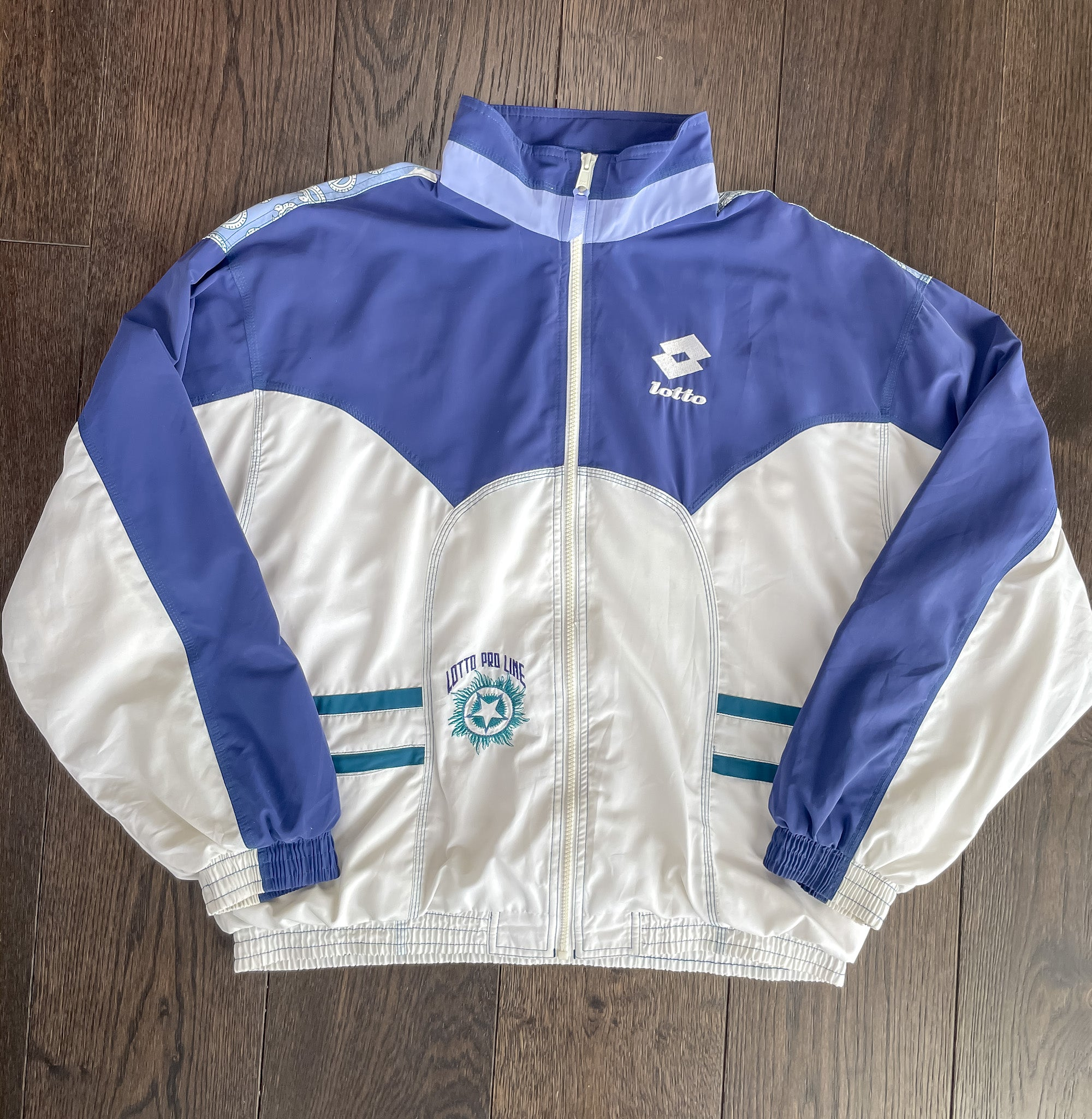 90's LOTTO WINDBREAKER JACKET (L)