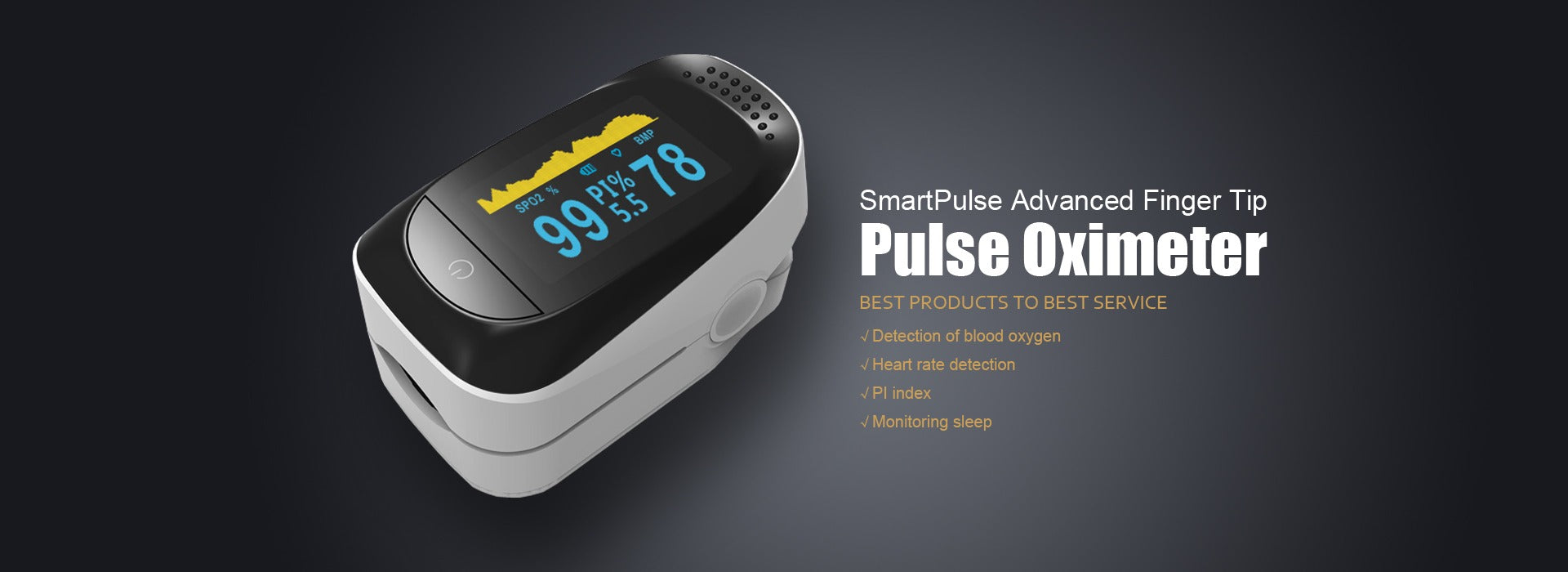 fingertip pulse oximeter OLED Display