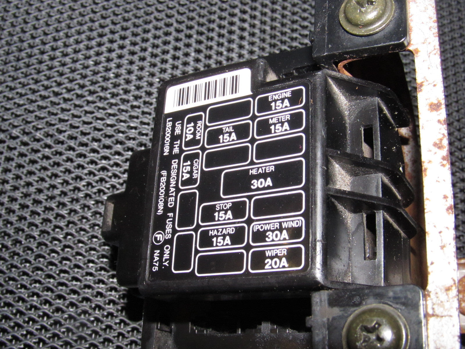 1990 Mazda Miata Fuse Box Another Blog About Wiring Diagram 1998 Location Light Battery Cable Panel