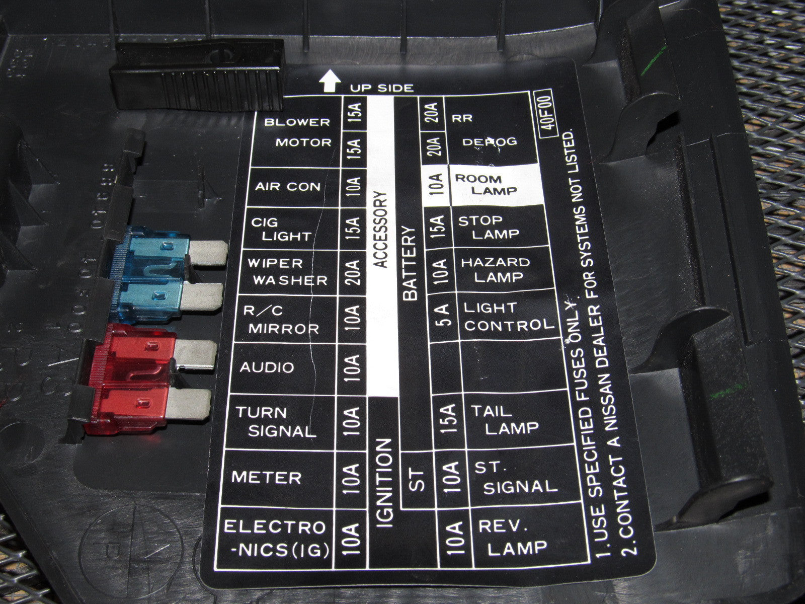 Miata Fuse Box Diagram On A 1993 Mazda Nissan Oem Interior Cover Autopartone Com