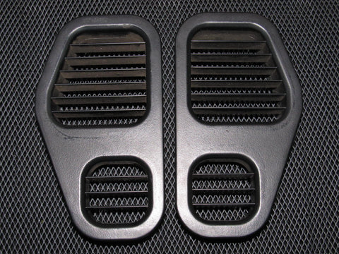 95-99 Mitsubishi Eclipse OEM Black Dash Side Heater AC Louver Vent - Left & Right - 2 pieces