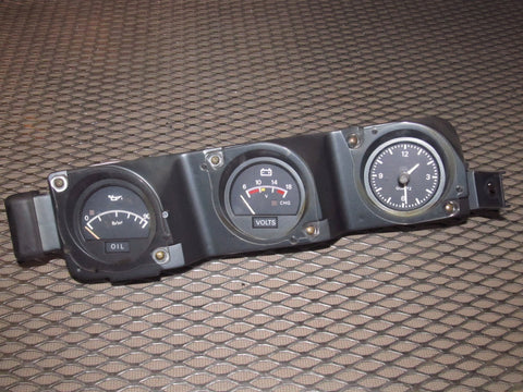 79 80 Datsun 280zx L28E OEM Analog Clock & Oil & Voltage Meter Gauge